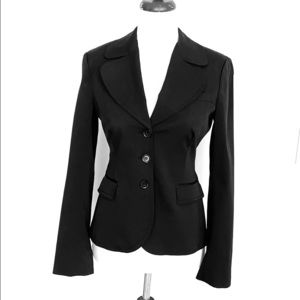 Bebe tuxedo black work blazer jacket 6